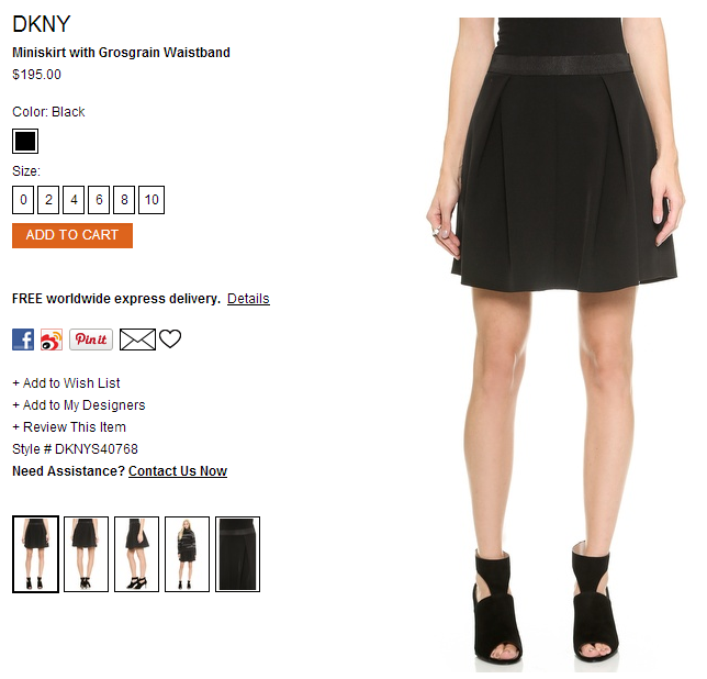 DKNY Miniskirt with Grosgrain Waistband   SHOPBOP.png