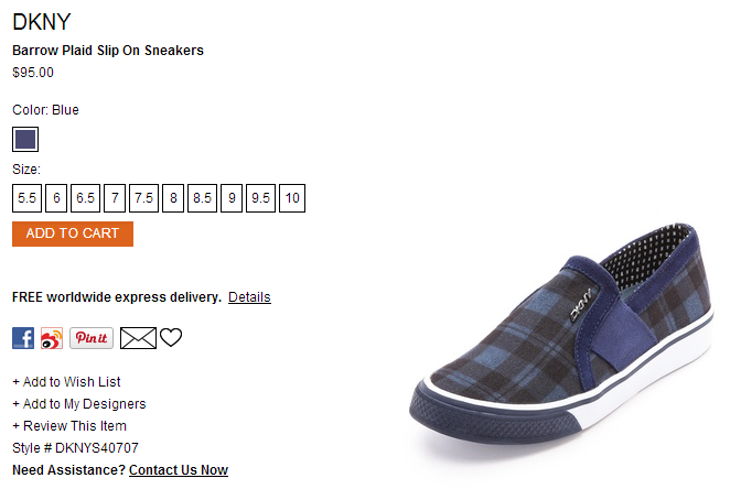 DKNY Barrow Plaid Slip On Sneakers   SHOPBOP.png