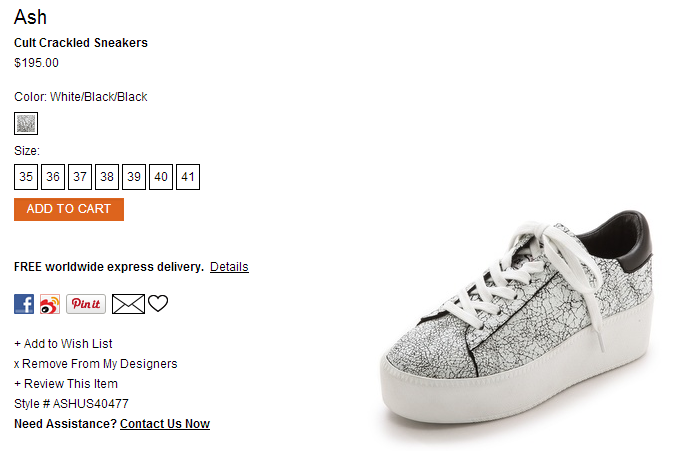 Ash Cult Crackled Sneakers   SHOPBOP