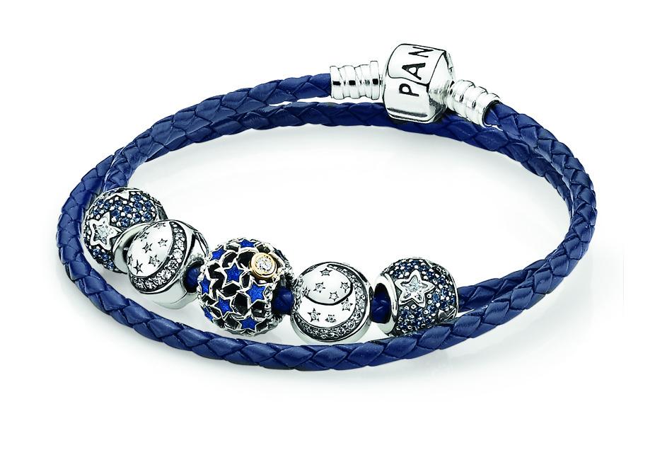 星空琺瑯蔚藍皮繩手鍊 NT$15,520.jpg