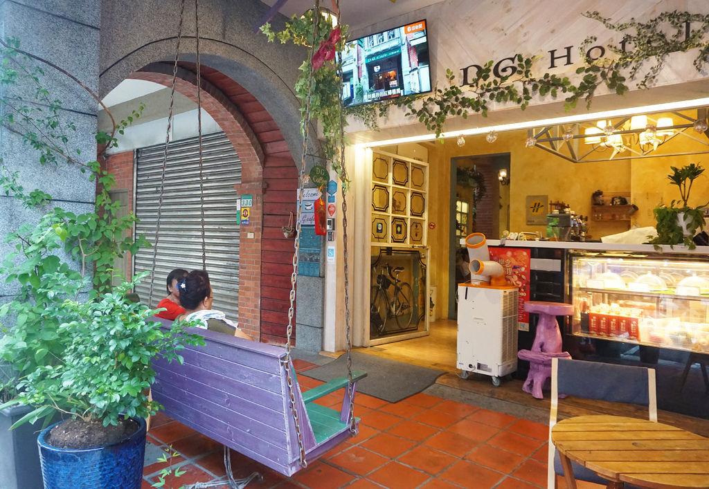 [大稻埕-網紅下午茶推薦] D.G.Cafe 花園咖啡 拐個彎就秒飛南法~好吃的生巧克力塔+檸檬塔更是下午茶必點的美味!