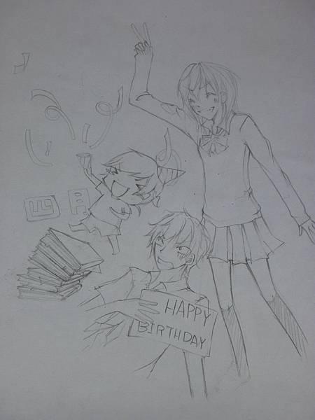 4月生日賀圖