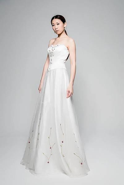 全新雅緻白紗