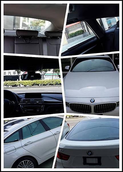 BMW 320GT 裝貼美國頂級V-KOOL 30(車身)與40(前檔)隔熱紙