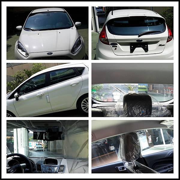 福特FIESTA-全車裝貼V-KOOL 70 清晰透明高隔熱