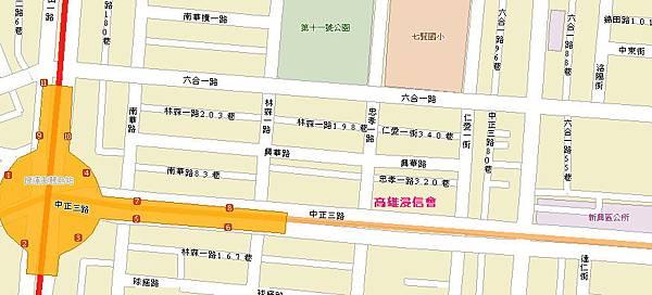 高雄浸信會MAP::交通指引