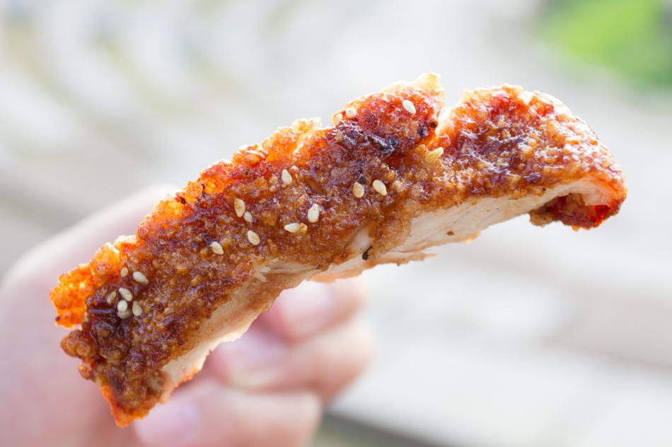 岡山美食 - 家鄉碳烤香雞排