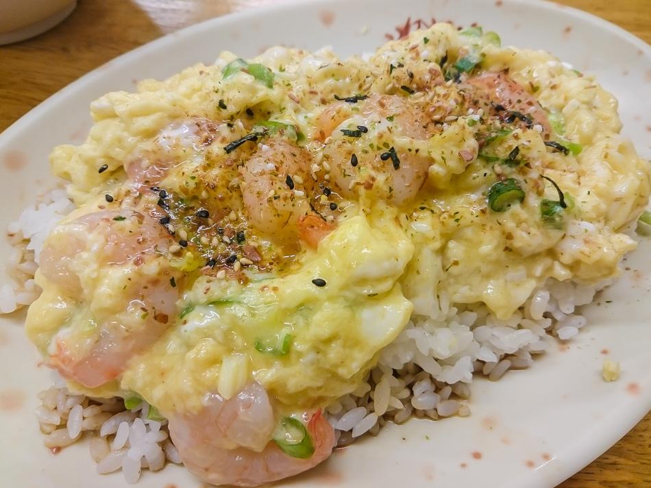 捷運美麗島站-南華中日複合料理滑蛋蝦仁飯