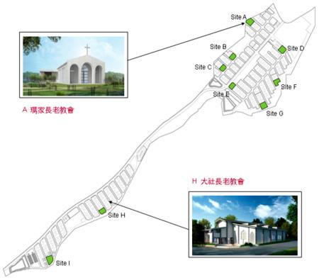 禮納里教堂地圖