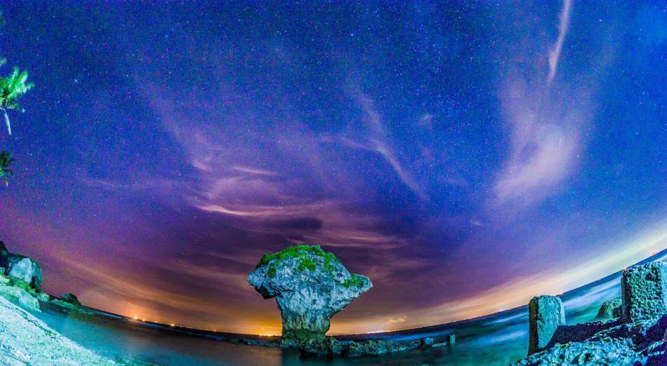 小琉球花瓶岩夜拍