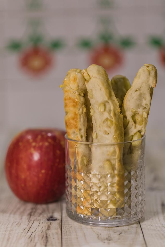 食譜分享-清爽蘋果麵包棒