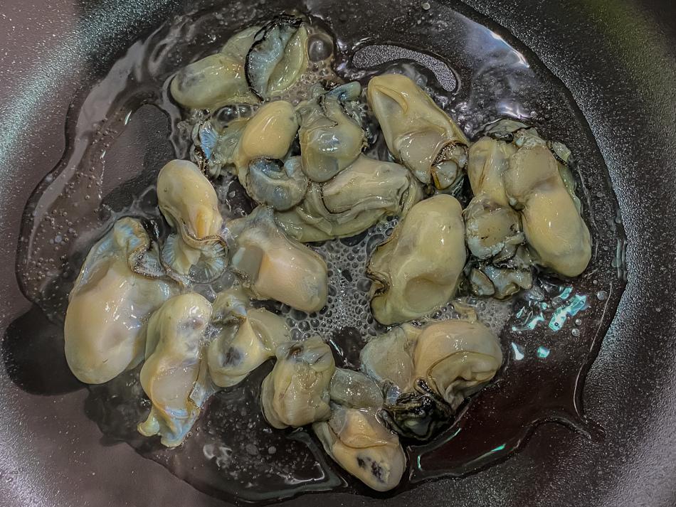 自製蚵仔煎與海山醬