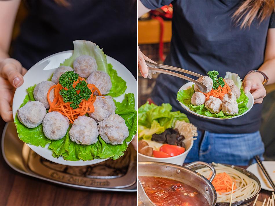 丸小三(80元),有牛肉風味丸、香菇貢丸及芋頭肉丸