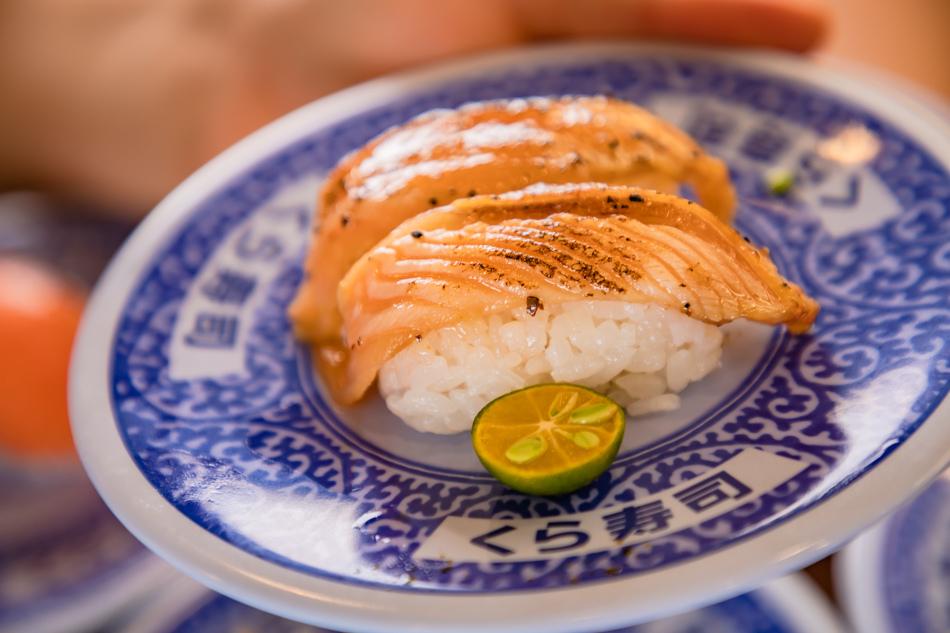 炙烤黑胡椒醃漬鮭魚肚40元