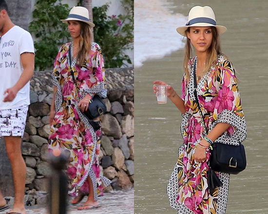 jessica-alba-Tory-burch-Catarina-Caftan-Cover-Up-Maxi-Dress