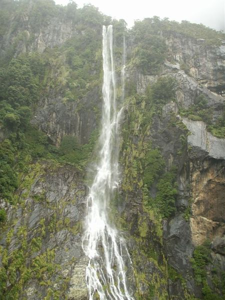 PICT1916-Magnificent waterfall in Milford Sound.JPG