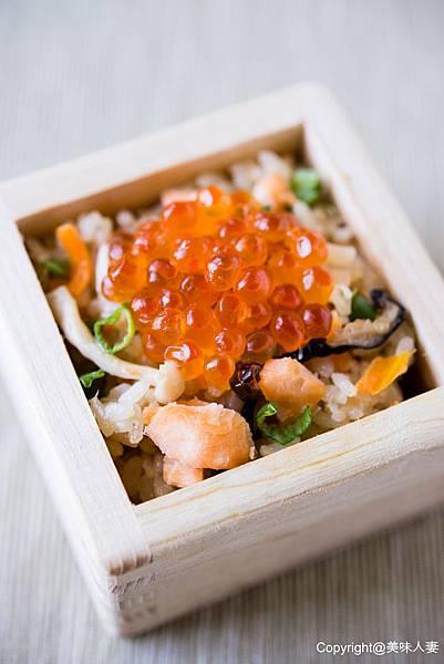 親子鮭魚蒸飯 -1-1