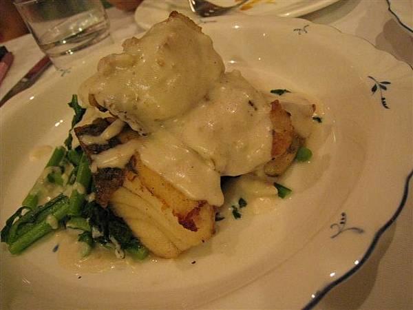 奶油蔬菜鱸魚