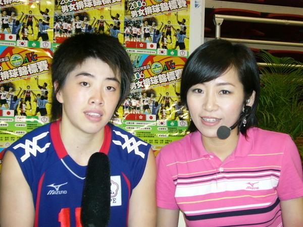 和中華女排當家舉球員吳曉莉