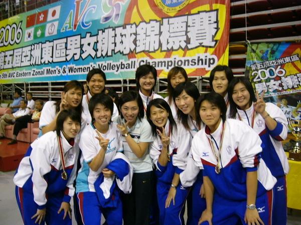 賽後和中華女排合照