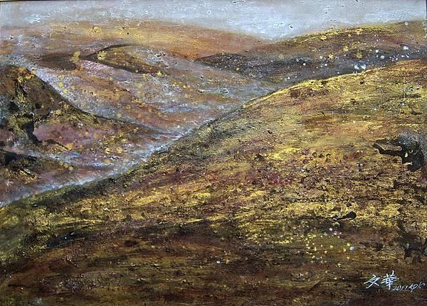 2011《沙漠陀鈴》,膠彩,82.5X60.2cm,2011