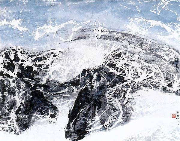西藏組曲:風雪之舞_劉國松