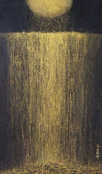 《流金五》,膠彩,木板,35x57cm,2012A