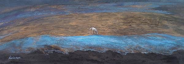 行路〈五〉,膠彩,麻布,119.2x42.9cm,2012A
