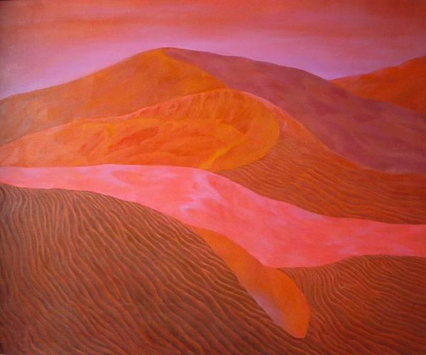 沙漠系列《紅沙漠》  油畫 2009  136X111cm