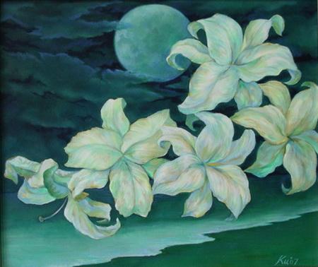 月夜,油畫,10F,2007