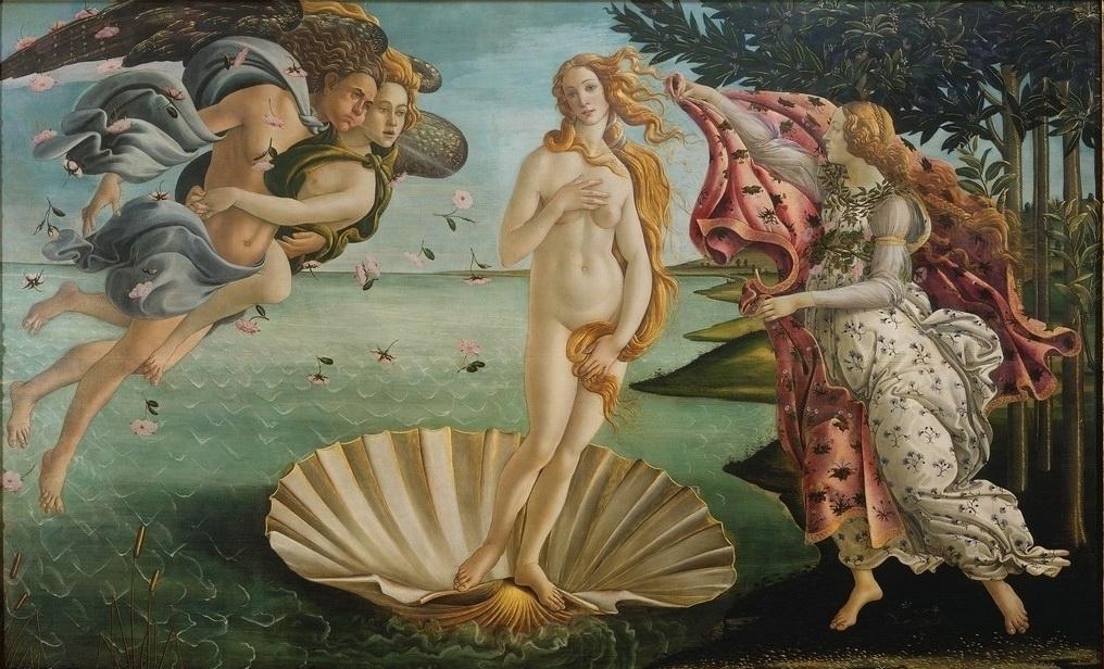 波堤切利,《維納斯的誕生》A