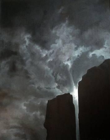 2009,曙光,油畫