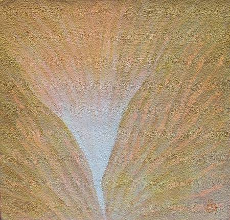 《心海》,膠彩,紙本,28.5 x26.6 cm,2009