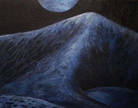2009,沙漠系列《夜色》06,膠彩壓縮檔.jpg
