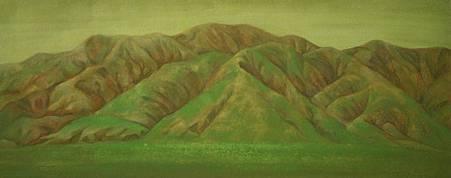 《行路》小品,2009,膠彩