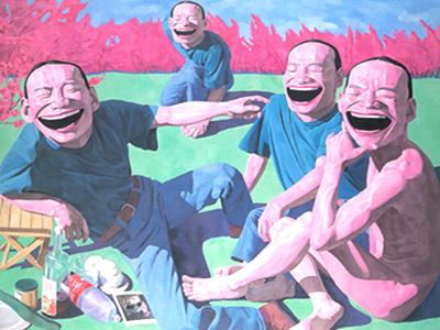岳敏君《草地上的午餐》1994.jpg