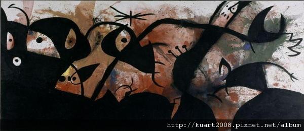 夜裡的人與鳥 Joan MIRO.jpg