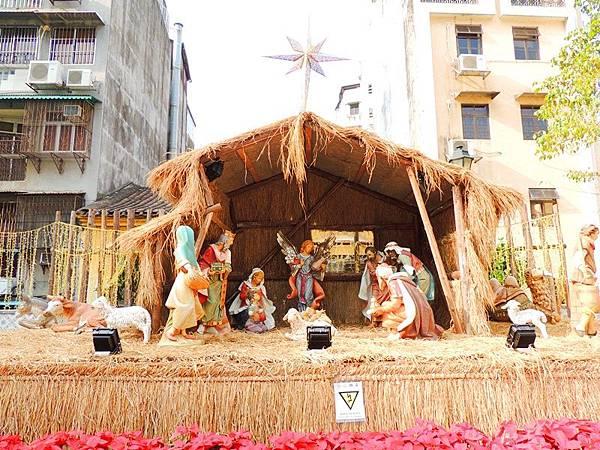 大三巴附近的耶穌誕生景.JPG