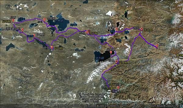 tibet field trip map
