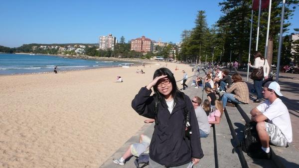 Manly海灘,太陽超大