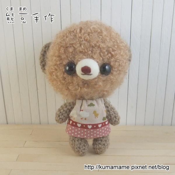 咖啡捲毛熊-粉紅洋裝02.jpg