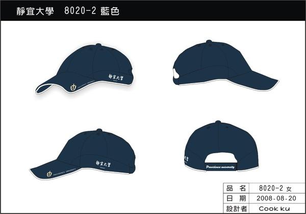 鴨舌帽設計圖-丈青色