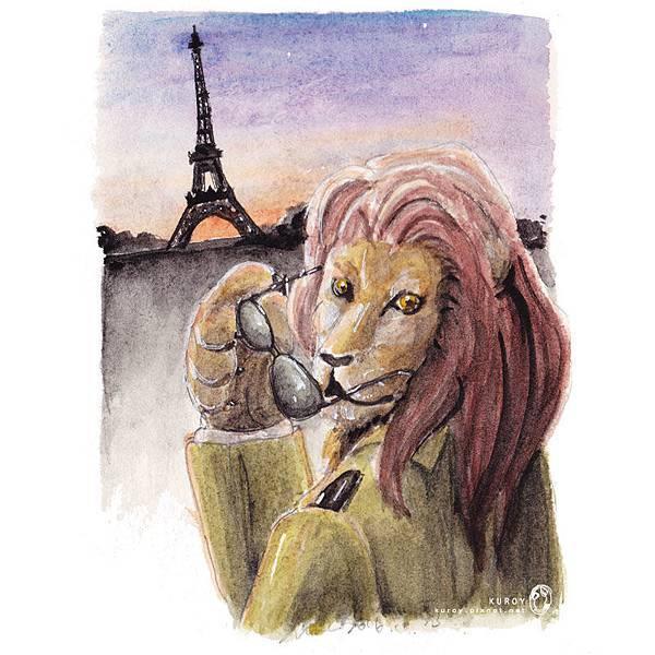 20161024往艾菲爾鐵塔前進的獅子.jpg