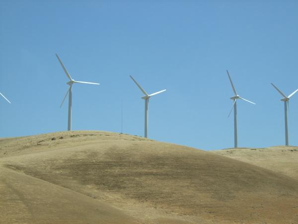 路旁的風車(車拍)