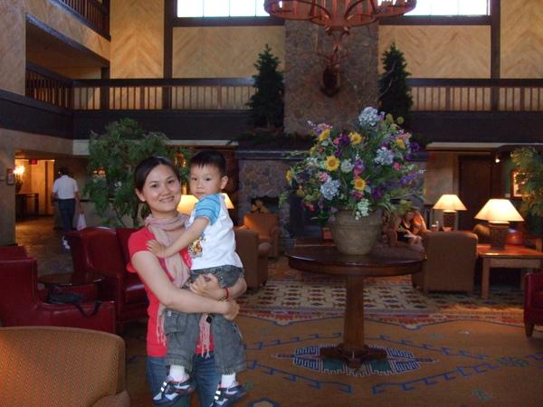 飯店lobby一角