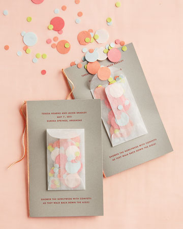 Ceremony Programs with Confetti