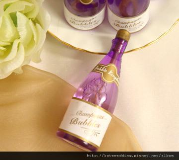 紫色香檳婚禮泡泡水