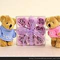 紫色愛戀皂花小熊組 可艾婚禮小物