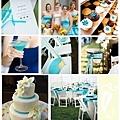藍白色的夏日婚禮