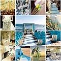 藍色系沙灘婚禮